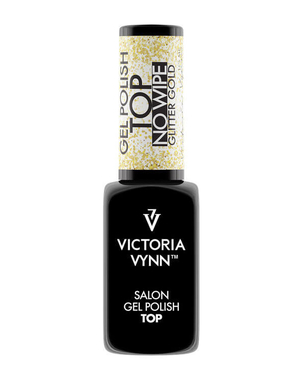 Финишное покрытие GEL POLISH TOP NO WIPE GLITTER GOLD